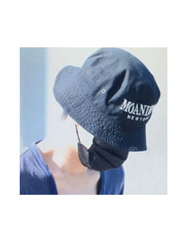 Fashion Black Letter Embroidery Decorated Simple Cap