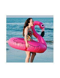 Lovely Pink Swan Shape Design Simple Swim Ring