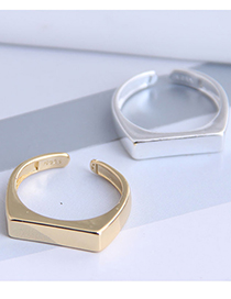 Fashion Golden Copper Open Ring