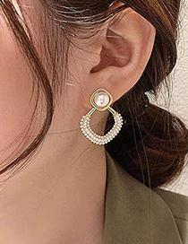 Fashion Pearl Metal Pearl Earrings