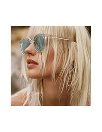 Fashion Tawny Pure Color Decorated Simple Sunglasses