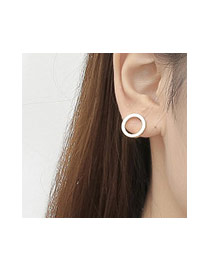 Fashion Gold Color Hollow Out Round Shape Decorated Simple Earring