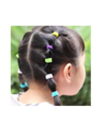 Fashion Pink Pure Color Decorated Simple Hair Band (10pcs)