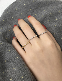 Elegant Gold Color Pure Color Decorated Non-smooth Simple Ring