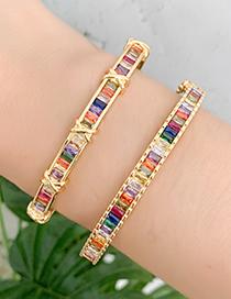 Fashion Gold Copper Inlay Zircon Bracelet
