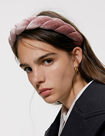 Fashion Black Gold Velvet Woven Twist Headband