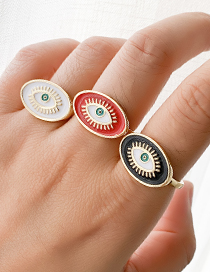 Fashion White Copper Love Eye Ring
