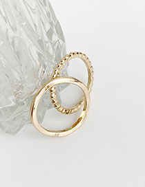 Fashion Gold Alloy Corrugated Ring