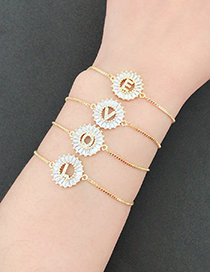 Fashion Gold Color Z Letter Shape Decorated Bracelet