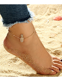 Fashion Gold Color Pineapple Pendant Decorated Anklet