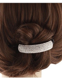 Fashion Black Full Diamond Decorated Hair Clip(l)