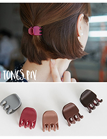 Fashion Dark Brown Pure Color Decorated Hair Claw