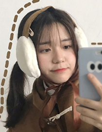 Fashion Red Pure Color Decorated Earmuffs