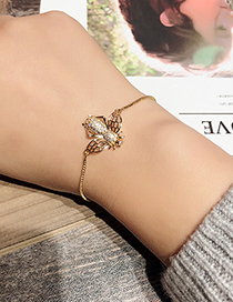 Fashion Gold Color Bee Shape Decorated Bracelet