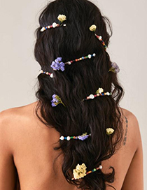 Fashion Pink Alloy Resin Pearl Hairpin