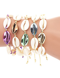 Fashion Gold Color-protected Shell Bracelet
