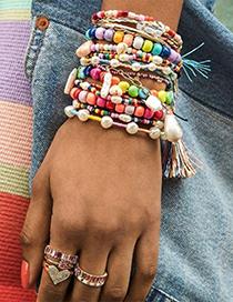 Fashion Color String Rice Beads Bracelet