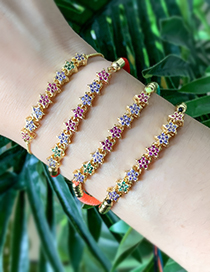 Fashion Gold Color Flower Pattern Decorated Bracelet