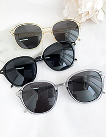 Fashion Gray Resin Rounded Sunglasses