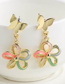 Fashion Color Butterfly Earrings