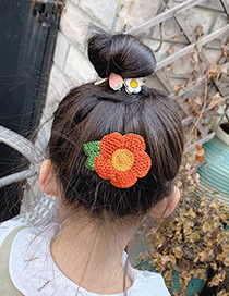Fashion Knitted Fruit Flowers [11 Pieces] Knitted Flowers Fruits Animals Bows Hit Color Velcro