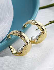 Fashion Gold Color Alloy Geometric Pearl Earrings
