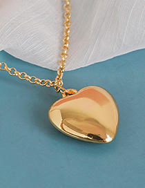Fashion Golden Alloy Love Necklace