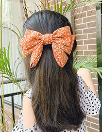 Fashion Pink Strawberry Bow Childrens Hairpin With Big Bow Fruit And Flower Print