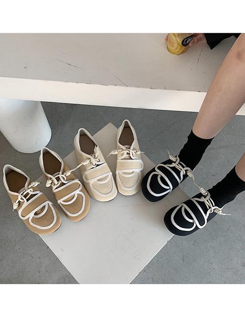 Zapatos De Lona Con Cordones Y Suela Blanda