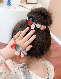 Fashion Carrot Fruit Resin Geometric Knotted Hair Rope