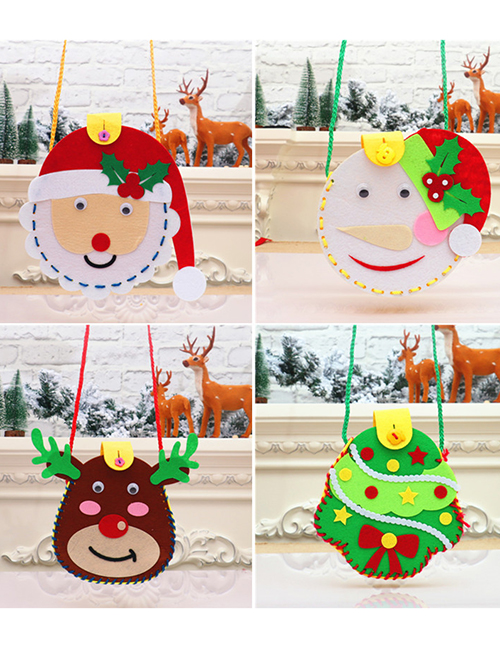 Fashion Garland Santa Snowflake Childrens Handmade Puzzle Candy Bag Material Package