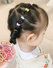 Fashion Thread Spring Color 100 Pieces Contrasting Thread Elastic Childrens Hair Rope Set