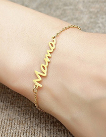Fashion Necklace-stainless Steel Stainless Steel Letter Hollow Necklace Ring Bracelet