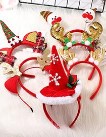 Fashion Antler Sequins Snowman Antlers Christmas Fabric Hair Hoop