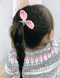 Fashion Orange Bunny Ears Knitted Childrens Hair Rope