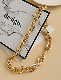 Fashion Gold Color Alloy Chain Necklace