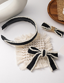Fashion Knotted (hairpin) Bowknot Beaded Knotted Hairpin Headband