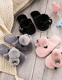 Fashion Baotou Mouse Powder Baotou Mouse Flat Children S Plush Slippers