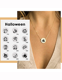 Fashion Gold Color Ghost Halloween Stainless Steel Ghost Ghost Geometric Necklace