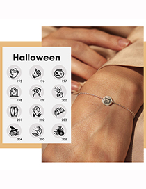 Fashion Rose Gold Color Ghost Halloween Stainless Steel Ghost Ghost Geometric Bracelet