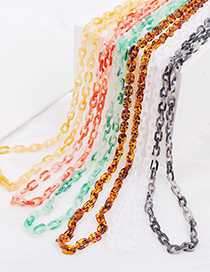 Fashion Red Acrylic Gradient Thick Chain Multilayer Necklace