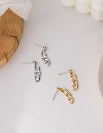 Fashion Gold Color Tassel Chain Alloy Hollow Earrings