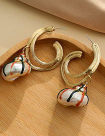 Fashion Gold Color Alloy Conch Earrings