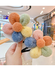 Fashion Cute Flowers [hairpin] Flower Hit Color Childrens Hairpin Hair Rope