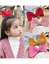 Fashion Red Bow Hairpin Three-dimensional Butterfly Combined With Gold Childrens Hairpin