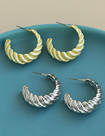 Fashion Golden Alloy Twisted Ear Studs