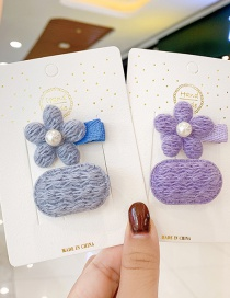 Fashion Pink Hairpin Childrens Hairpin Set With Flower Pearl Wool