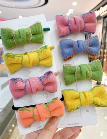 Fashion Pink Bow [hairpin] Bowknot Fabric Alloy Childrens Hair Rope Hairpin
