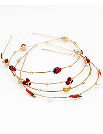 Fashion Carrot Dripping Fruit Fine Pearl Alloy Headband