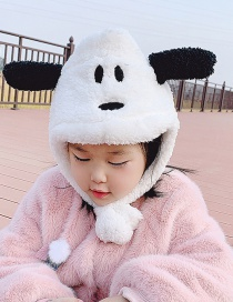 Fashion White Puppy Reference Age 6 Months-5 Years Old Puppy And Plush Childrens Woolen Hat